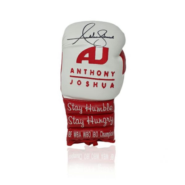 Anthony Joshua Signed Stay Hungry Boxing Glove AJ BXNG AFTAL COA