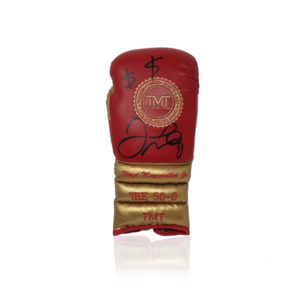 Floyd Mayweather Jr Branded Hand Signed Boxing Glove