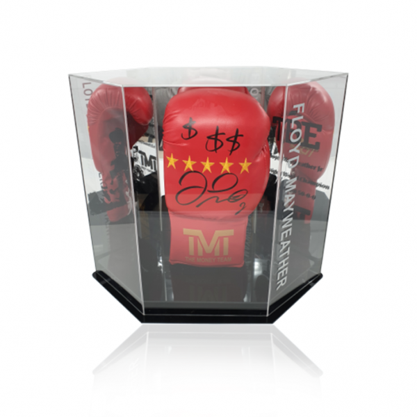 Floyd Mayweather Jr Branded Hand Signed Boxing Glove In a Diamond Display Case
