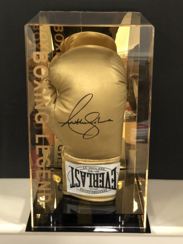 Anthony Joshua Signed Boxing Glove Display Case AJ BXNG World Champion AFTAL COA