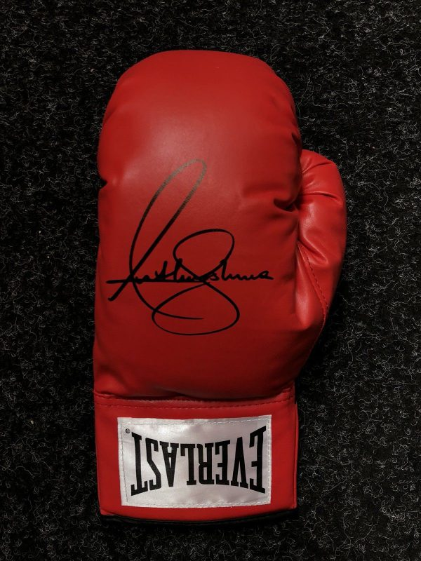 Anthony Joshua Signed Everlast Boxing Glove AJ BXNG World Champion AFTAL COA