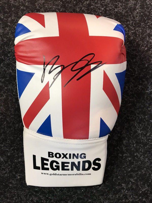 Billy Joe Saunders Hand Signed Boxing Glove COA AFTAL