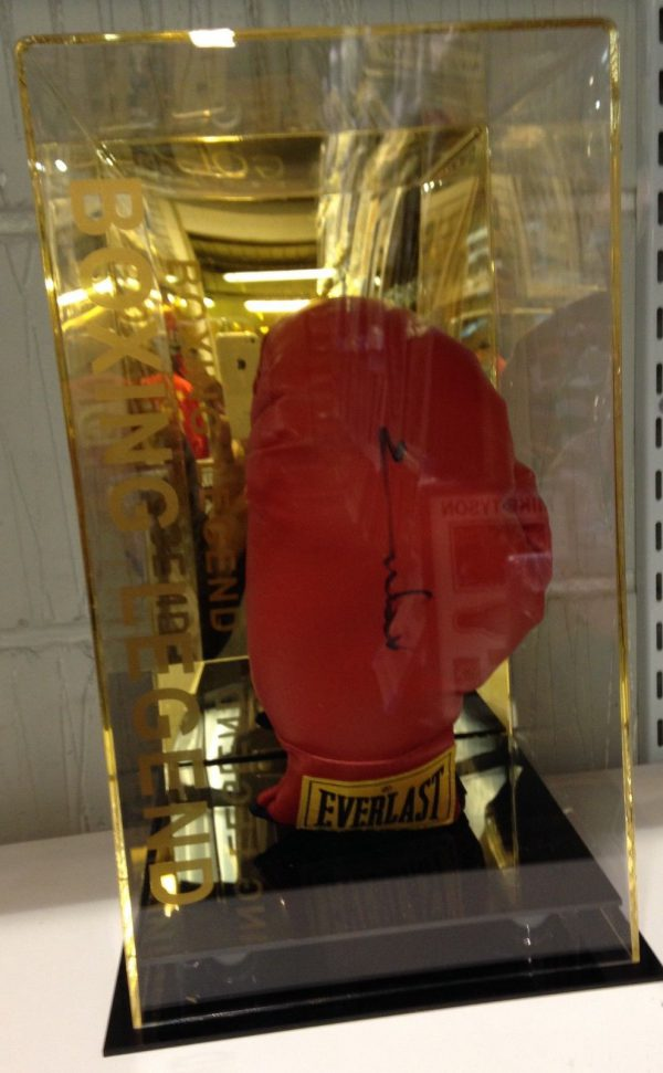 Chris Eubank Snr Hand Signed Boxing Glove with Display Case RARE COA