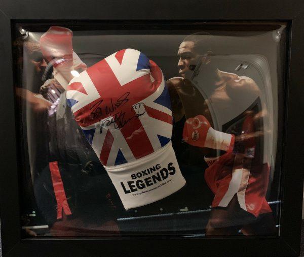 Classic Dome Framed Frank Bruno Hand Signed Boxing Glove World Champion RARE COA