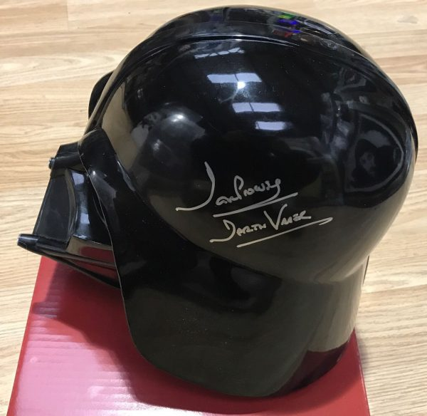 Dave Prowse Signed Helmet Mask Star Wars Darth Vader AFTAL COA