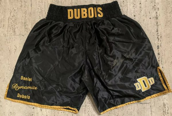 Exclusive Official Daniel Dubois Branded Signed Boxing Shorts Trunks