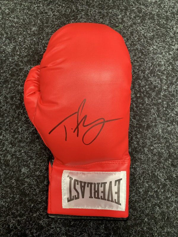 Exclusive Tyson Fury Hand Signed Boxing Glove Photo Proof COA