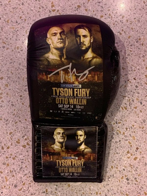 Exclusive Tyson Fury V Otto Wallin Fight Promo Signed Boxing Glove