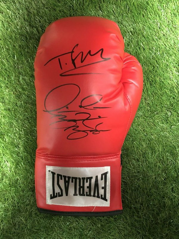 Exclusive Tyson Fury and Deontay Wilder Dual Signed Boxing Glove AFTAL PROOF COA