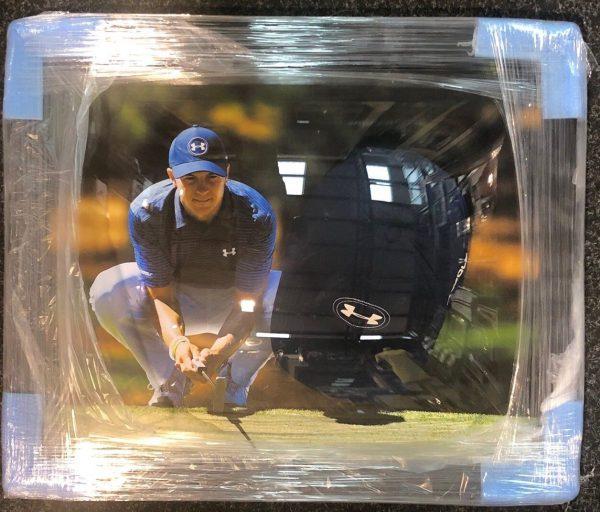 Framed Jordan Spieth Official Under Armour Cap Hat RARE COA AFTAL