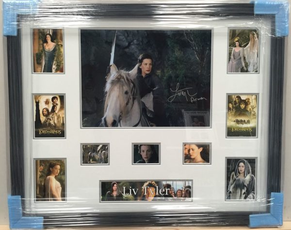 Framed Liv Tyler Signed Photo 16x12 Lord Of The Rings Arwen RARE COA AFTAL