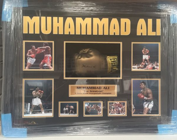 Framed Muhammad Ali Signed Boxing Glove The Greatest Legend RARE COA PROOF