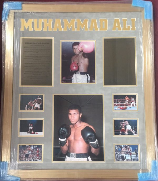 Framed Muhammad Ali Signed Photo Legend RARE COA