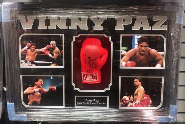Framed Vinny Paz Pazienza Hand Signed Boxing Glove 5x Champion RARE COA