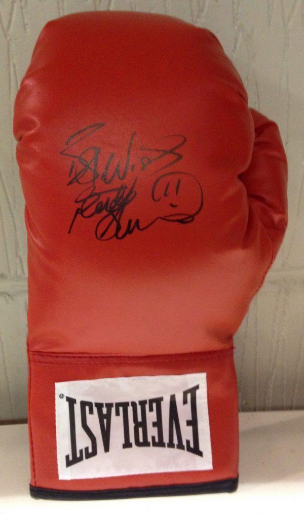 Frank Bruno hand signed boxing glove world champion RARE COA