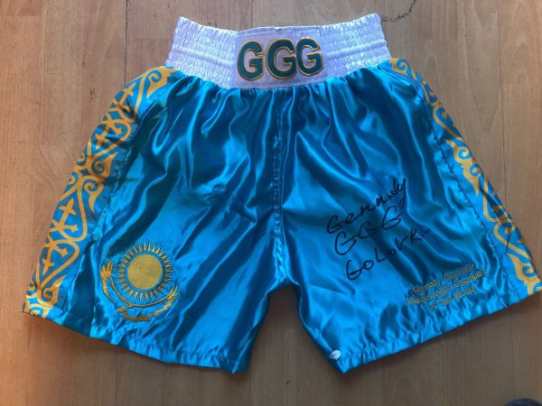 Gennady GGG Golovkin Hand Signed Boxing Shorts Online Authentics AFTAL COA