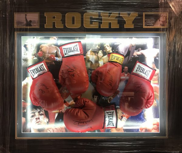 Rocky Boxing Glove Set Sylvester Stallone Dolph Lundgren Carl Weathers Tommy Morrison Burt Young