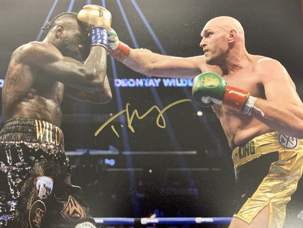 Exclusive Tyson Fury Hand Signed 16x12 Photograph
