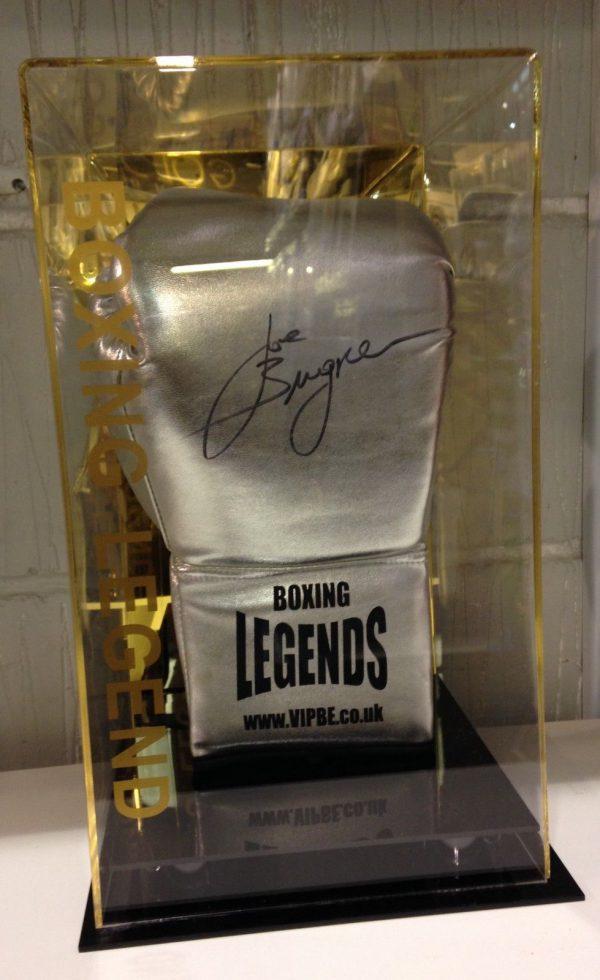 Joe Bugner Hand Signed Boxing Glove In a Display Case RARE COA