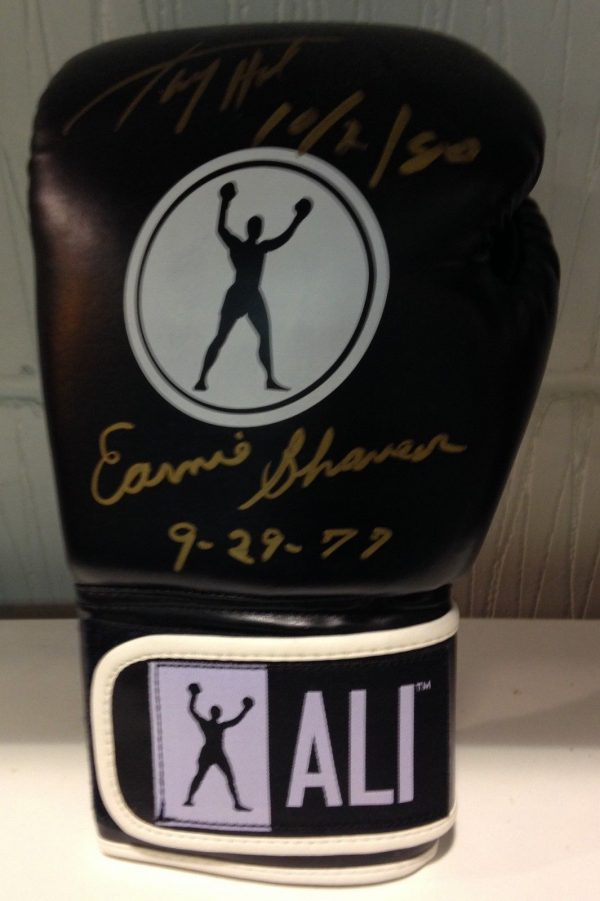 Larry Holmes & Earnie Shavers dual signed boxing glove | Gold Star  Memorabilia