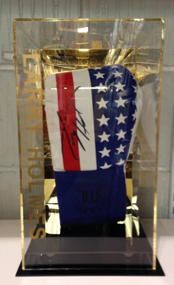 Larry Holmes Hand Signed Boxing Glove In a Display Case World Champion RARE COA