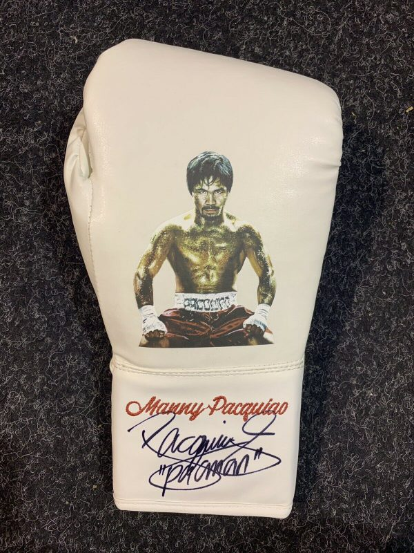 Manny Pacquaio Hand Signed Limited Edition Glove COA Proof