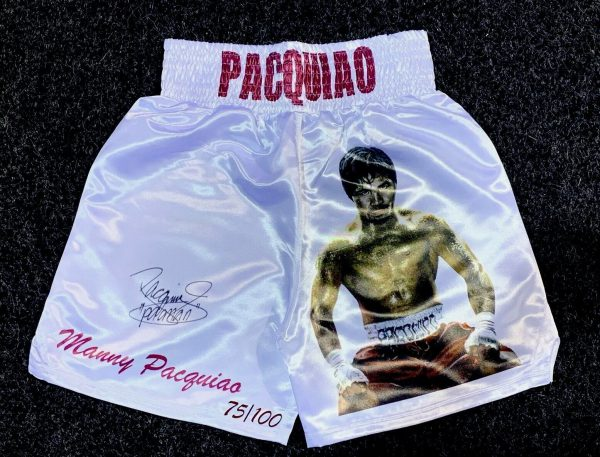 Manny Pacquaio Hand Signed Limited Edition Shorts COA Proof