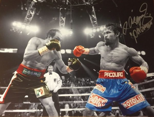 Manny Pacquiao Hand Signed Photo 16x12 World Champion RARE COA