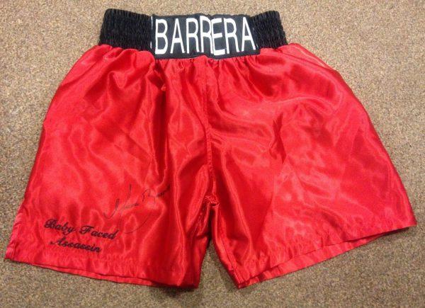 Marco Antonio Barrera Hand Signed Boxing Shorts World Champion COA RARE