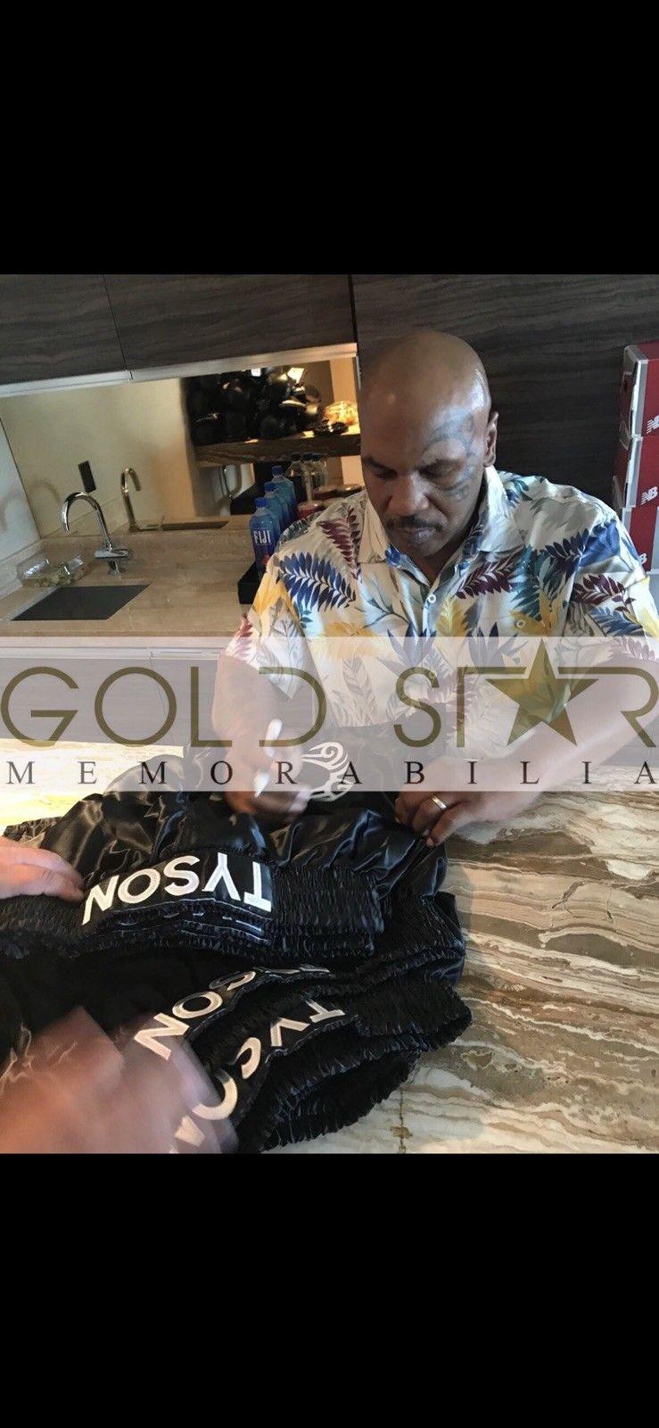 Mike Tyson Hand Signed Boxing Shorts World Champion COA RARE