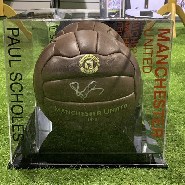 Paul Scholes Signed Football Manchester United Legend Display Case COA