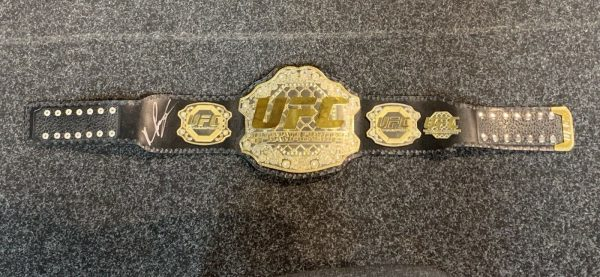 "QUINTON "" RAMPAGE "" JACKSON ; Signed UFC World Championship Title Belt AFTAL COA"