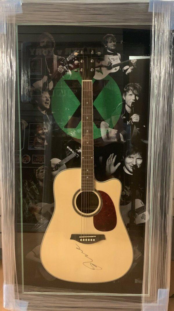RARE Framed Ed Sheeran Hand Signed Guitar + x ÷ RARE COA