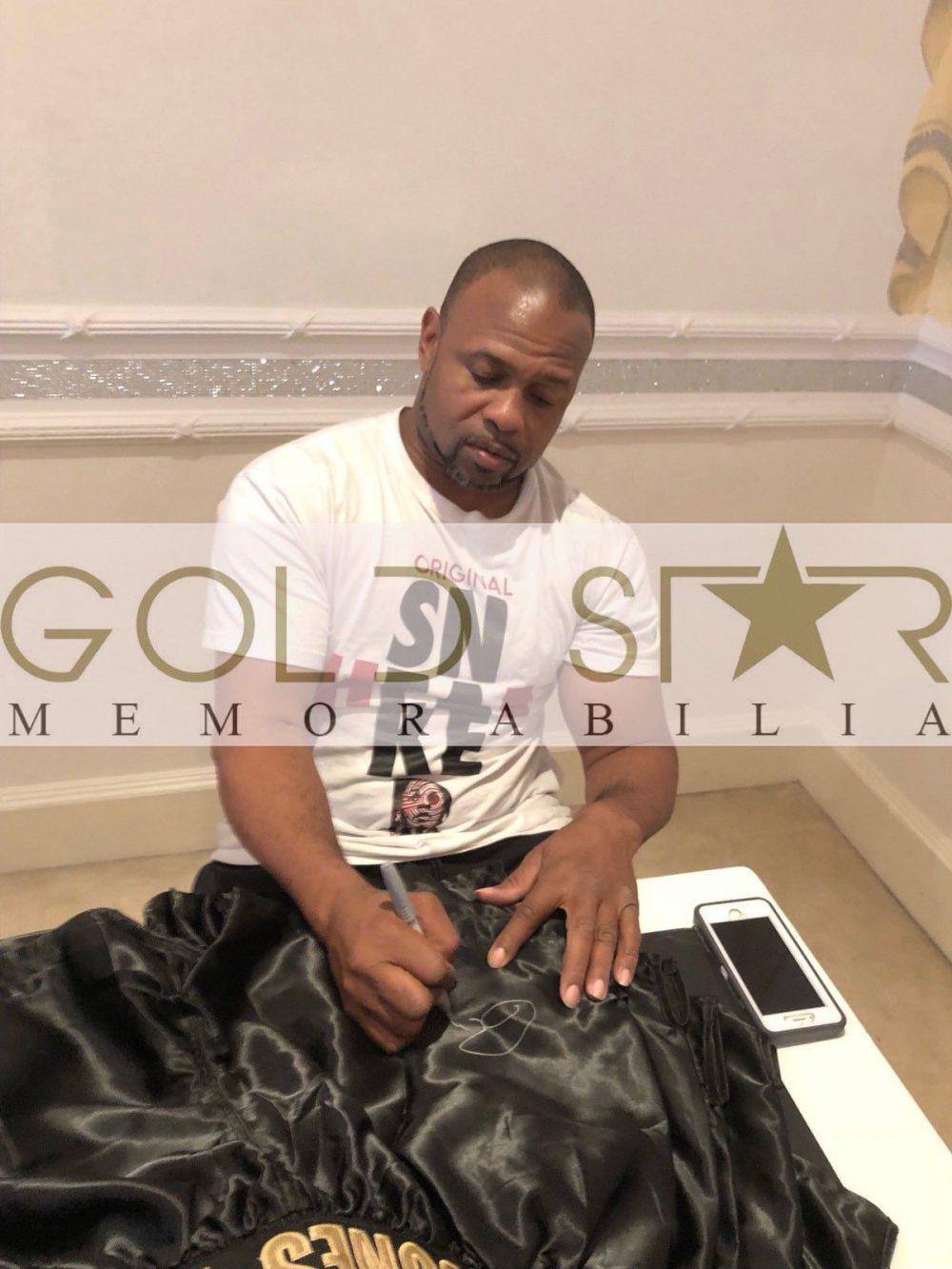 Roy Jones Jnr Hand Signed Replica Boxing Shorts World Champion RARE COA