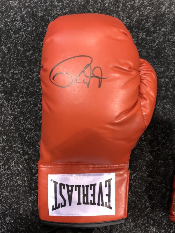 Roy Jones Jnr hand signed boxing glove world champion RARE COA