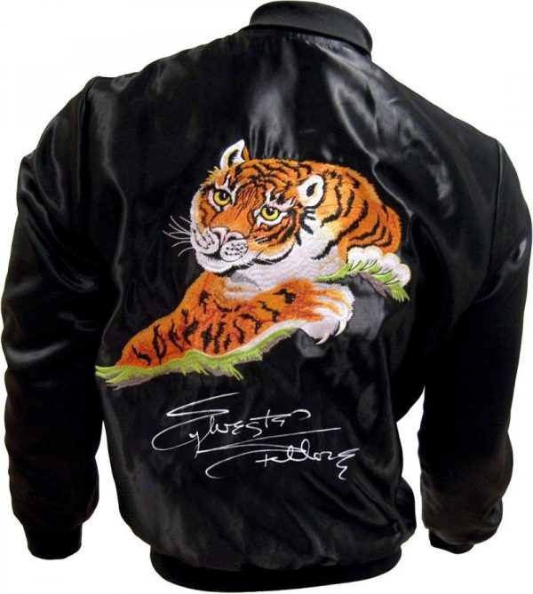 SYLVESTER STALLONE HAND SIGNED OFFICIALLY LICENSED ROCKY II TIGER JACKET AFTAL