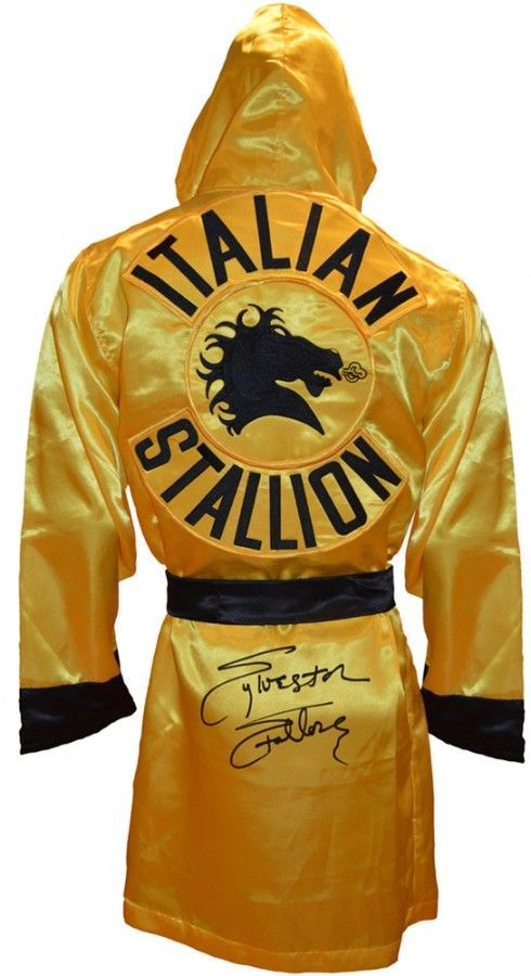 SYLVESTER STALLONE HAND SIGNED OFFICIALLY LICENSED ROCKY III ROBE