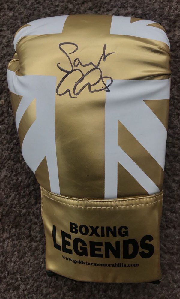 Saint George Groves Hand Signed Boxing Glove Coa AFTAL