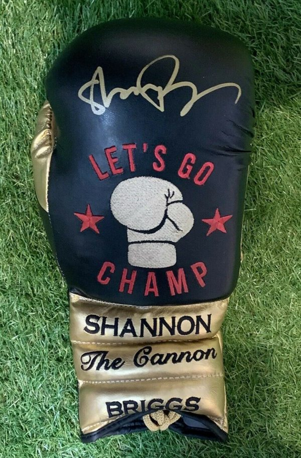 Shannon Briggs Signed Boxing Glove Lets Go Champ World Champion AFTAL COA PROOF