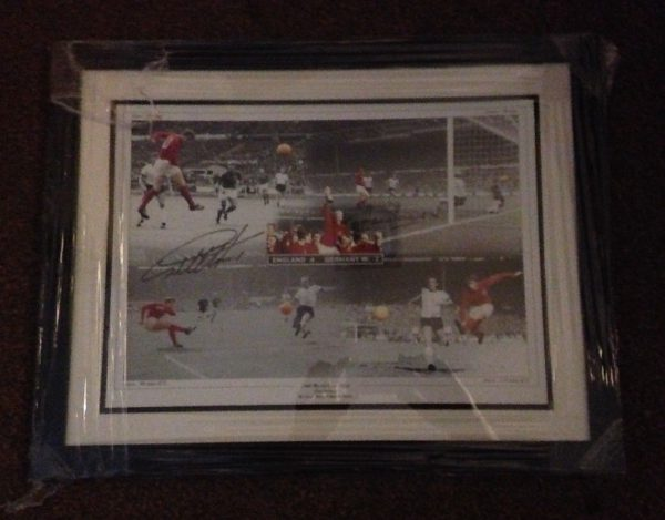 Signed & Framed Hurst & Peters England 1966 World Cup Photo Display Rare COA