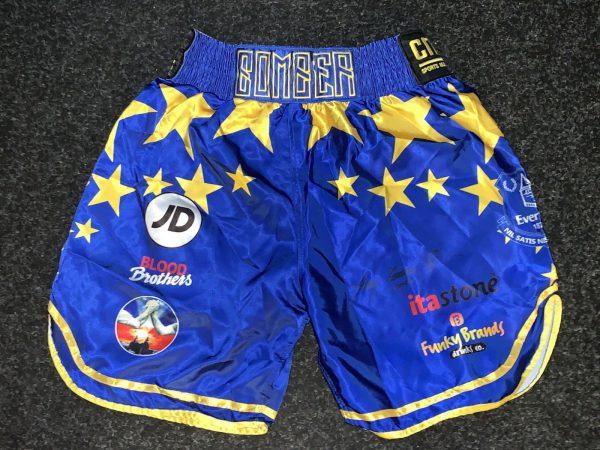Tony Bellew Hand Signed Replica Boxing Shorts v David Haye AFTAL RARE COA