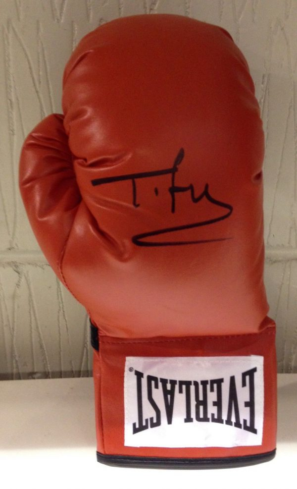 Tyson Fury Hand Signed Boxing Glove RARE COA