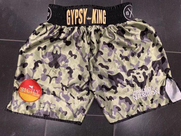 Tyson Fury Hand Signed Fight Replica Camouflage Shorts RARE COA