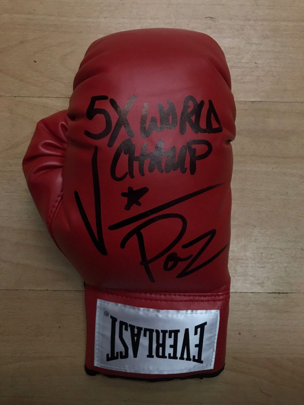 Vinny Paz Pazienza Hand Signed Boxing Glove 5x World Champion RARE COA