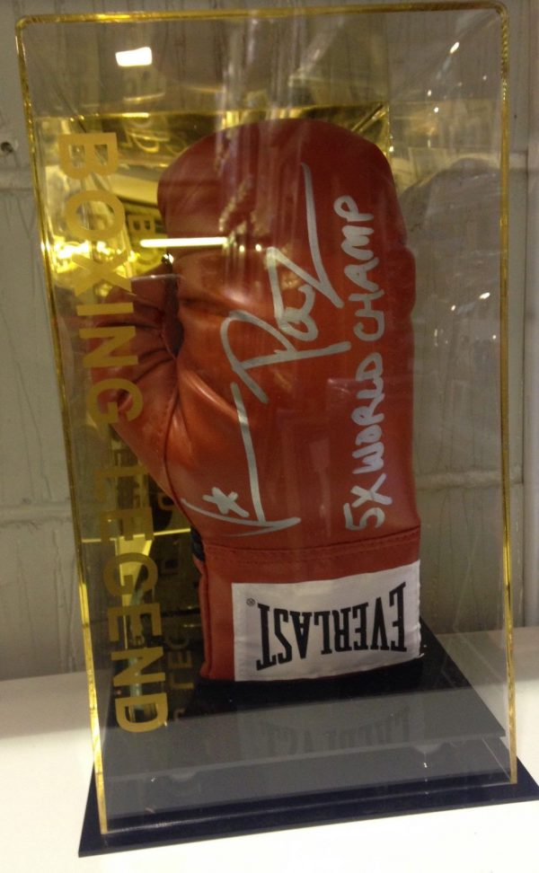 Vinny Paz Pazienza Hand Signed Boxing Glove in a Display Case 5x RARE COA