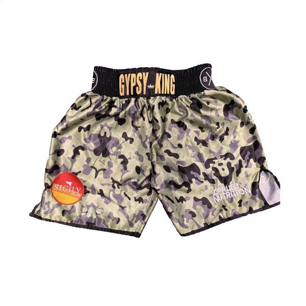 Tyson Fury Hand Signed Fight Replica Shorts RARE COA